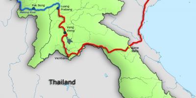 Rio Mekong Mapa Fisico.Laos Mapa Mapas Laos Sur Leste De Asia Asia